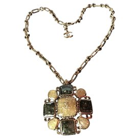 Chanel-Collier Chanel, Collection Gripoix * Collector*-Vert