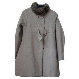Kenzo-Mädchen Mäntel Oberbekleidung-Beige