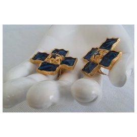 Yves Saint Laurent-CROIX CLIPS-Bleu Marine