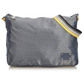 Fendi-Fendi Gray Zucchino Nylon Shoulder Bag-Multiple colors,Grey
