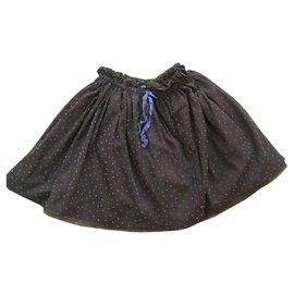 Autre Marque-Lili Gaufrette Skirts-Dark brown