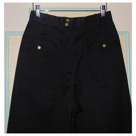 Chanel-Chanel pantalon noir taille haute, Collection été 1989-Noir