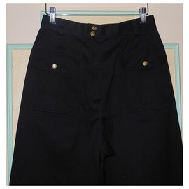 Chanel-Chanel black high waisted trousers, Summer collection 1989-Black