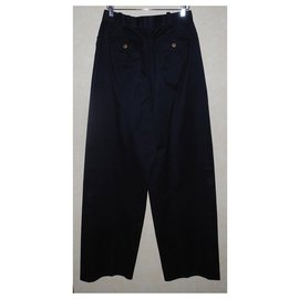 Chanel-Chanel high waisted pants, Summer collection 1989-Navy blue