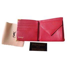 Yves Saint Laurent-portefeuilles-Rouge