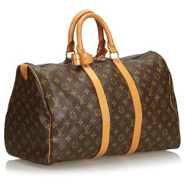 Louis Vuitton-Louis Vuitton Keepall Monogram Brown 45-Marron