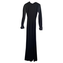 Yves Saint Laurent-Robe YSL-Noir