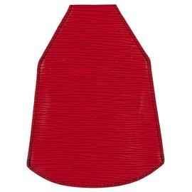 Louis Vuitton-Pochette Ceinture Louis Vuitton Sherwood en cuir épi rouge en très bon état !-Rouge