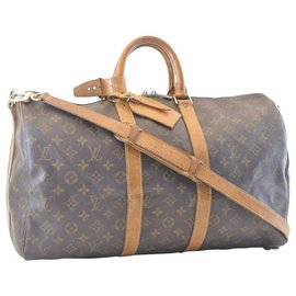 Louis Vuitton-Louis Vuitton Keepall Bandouliere 45-Marron