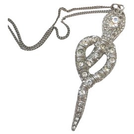 Chanel-Necklace Chanel-Silvery