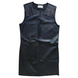 Saint Laurent-Mini robe-Noir