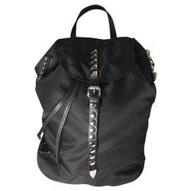 Prada-sac a dos backpack zaino prada studded new-Noir