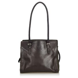 1787cc812b50 Prada-Prada Black Leather Tote Bag-Black ...