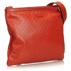 4d505a329947 ... Gucci-Gucci Red Diamante Leather Crossbody Bag-Red