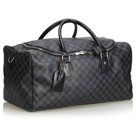 Louis Vuitton-Roadster Louis Vuitton Black Damier Graphite 50-Noir,Gris