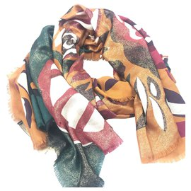 Burberry-Burberry MultI Printed Wool Scarf-Multiple colors