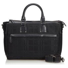 Burberry-Burberry Black Nylon Business Bag-Black