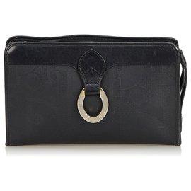 00275a357a Dior-Dior Black Oblique Coated Canvas Clutch Bag-Black ...