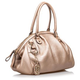 Gucci-Gucci Brown Leather Sukey Handbag-Brown,Light brown