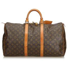 Louis Vuitton-Louis Vuitton Keepall Monogram Brown 50-Marron