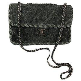 Chanel-classical-Grey,Dark grey