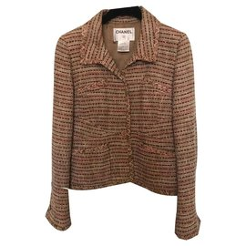 Chanel-Blazer-Multicolore,Beige