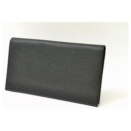 Bulgari-Bulgari Leather Wallet-Black
