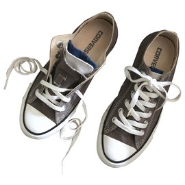 Converse-Converse gray limited series with tongue of 3 T colors. 4,5-White,Grey