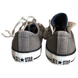 Converse-Converse grises  série limitée avec Languette de 3 couleurs T. 4,5-Blanc,Gris