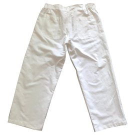 Autre Marque-Blanc du Nil - Pantalon Blanc 100% coton  T.L - XL  Blanc du Nil-Blanc