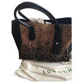d4ea57184a Longchamp-Gaucho-Noir,Imprimé léopard ...