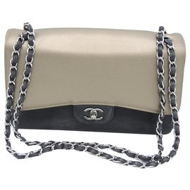 Chanel-CHANEL LARGE BAG TIMELESS CLASSIC-Black,Bronze