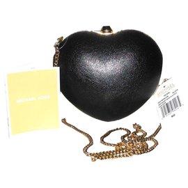 92c4aa675f Michael Kors-Michael Kors sac coeur modèle Pearl cuir noir neuf étiquette-Noir,  ...