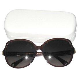 Marc Jacobs-Des lunettes de soleil-Marron