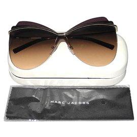 Marc Jacobs-Des lunettes de soleil-Argenté,Violet
