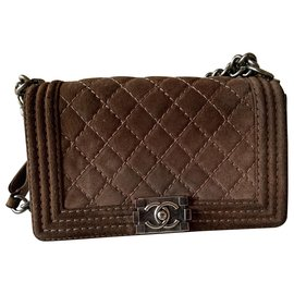 Chanel-Chanel boy bag-Brown