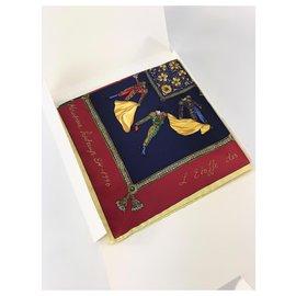 Christian Dior-Dior vintage corrida silk square (1996 coleção primavera / verão)  - Novo , não usado-Outro