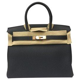 Hermès-Birkin 30cms, cuir togo, Nuit bleue, édition limitée avec Rose Gold Hardware-Bleu