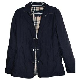 Burberry-Jacket with nova check lining-Navy blue