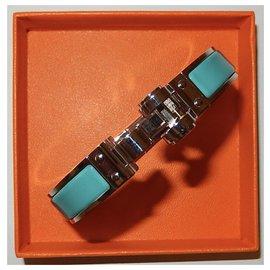 Hermès-BRACELET CHARNIÈRE UNI-Bleu