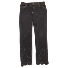 Chanel-CHANEL Jean Embroidered-Black