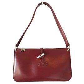 954c400e14 Longchamp-Sac Longchamp vintage, modèle Fuseau, en cuir de vachette dans  les tons ...