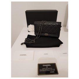 Chanel-Boy Wallet On Chain WOC-Black