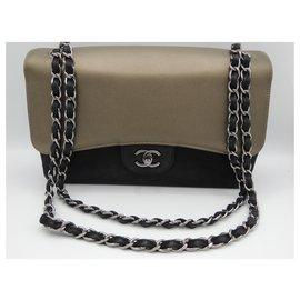 Chanel-CHANEL GRAND SAC TIMELESS CLASSIQUE-Noir,Bronze