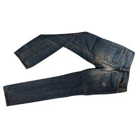 Diesel-Pantalons, leggings-Bleu