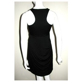 Halston Heritage-Racerback dress-Black