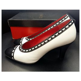 Céline-Heels-Black,White