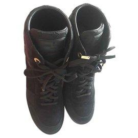 Louis Vuitton-Millenium wedge sneakers-Black