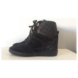 Louis Vuitton-Millenium wedge sneakers-Noir