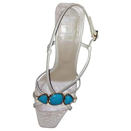 Dior-Sandales Dior-Blanc